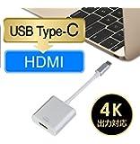 USB 3.1 Type-C to HDMI変換アダプター MEIYE ビデオコンバータ4k解像度に対応 音声出力 新版 2015 MacBook Google Chromebook Pixel及び ASUS Zen AiOなどUSB-Cポートが搭載のMacやWindowsパソコンに対応