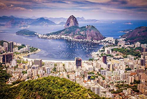 FKG Adult Jigsaw Puzzle Copacabana Ipanema Beaches Rio de Janeiro Brazil 500-Pieces