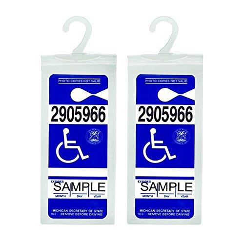 Handicap Placard Holder Transparent Protective