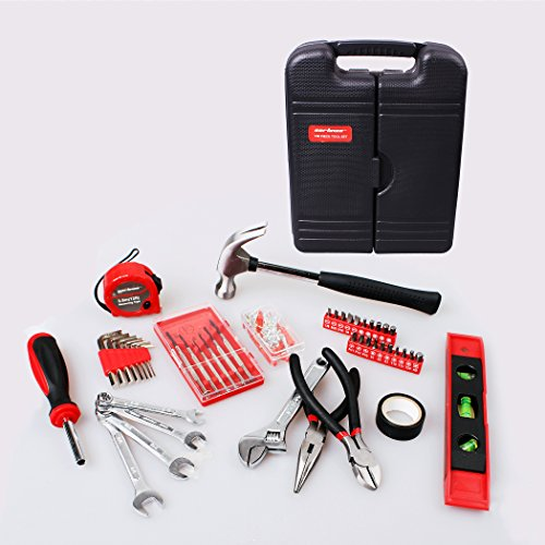 CARTMAN 136-Piece Tool Set - General Household Hand Tool Kit with Plastic Toolbox Storage Case by CARTMAN (Image #2)