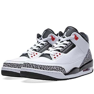 nike mens air jordan 3 retro leather basketball shoes basketball. Black Bedroom Furniture Sets. Home Design Ideas