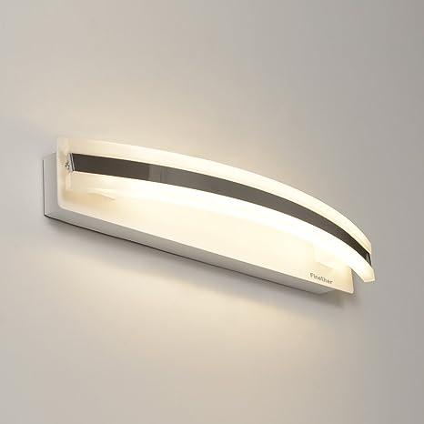 Specchio Bagno Bianco.Finether Lampada Bagno Specchio Luce Led Per Specchio 8w Bianco