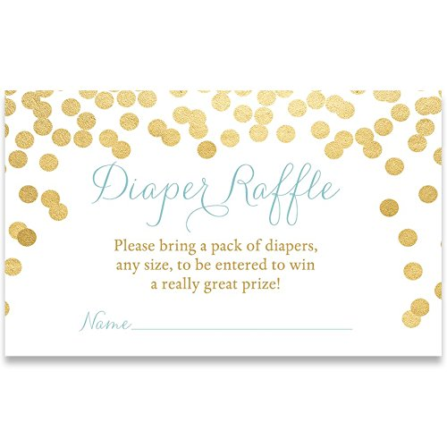 Baby Shower Invitations, Brunch and Baby, Champagne, Mimosa, Toast, Blue, Boys, Gold, Confetti, Glitter, Customized, Set of 24 Diaper Tickets, Baby Brunch Boys (Sparkling Toast)