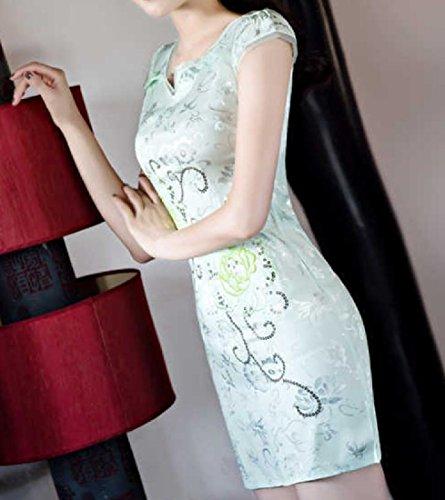 Vestito Sottile Casuale Elegante Coolred Cheong Fantasia Matita sam donne Verde w6Zx8qTg