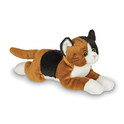 Bearington Lil' Callie Small Plush Stuffed Animal Calico Cat, Kitten 8 inches: Toys & Games