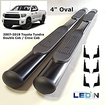 """Side Step Nerf Bar For 07-18 Toyota Tundra CrewMax 4Dr Extended Crew cab Blk 3/"""""""