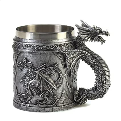 Amazon Com Furniture Creations 15132 Serpentine Dragon Mug 5 75 X