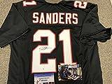 Deion Sanders Autographed Signed Atlanta Falcons Custom Jersey GTSM COA & Hologram W/Photo From Signing