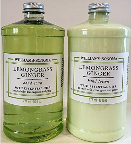 Williams Sonoma Hand Lotion And Hand Soap Duo Lemongrass Ginger 16 Fl Oz   Fast Shipping
