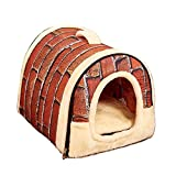 Cheap Guardians Cozy Dog Sleeping House Warm Bed Indoor/Outdoor Pet Shelter Brick Home Great Small Dogs, Cats, Puppies, Rabbits