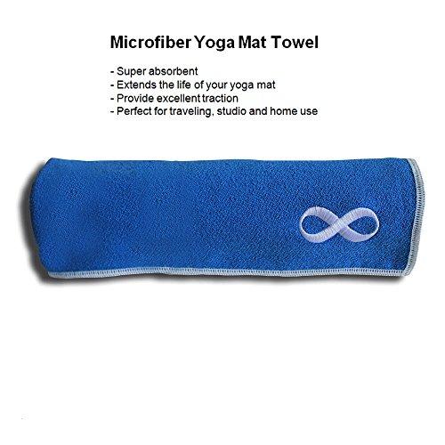 Yoga Mat Towel And Hand Towel Set Blue Yoga Towels