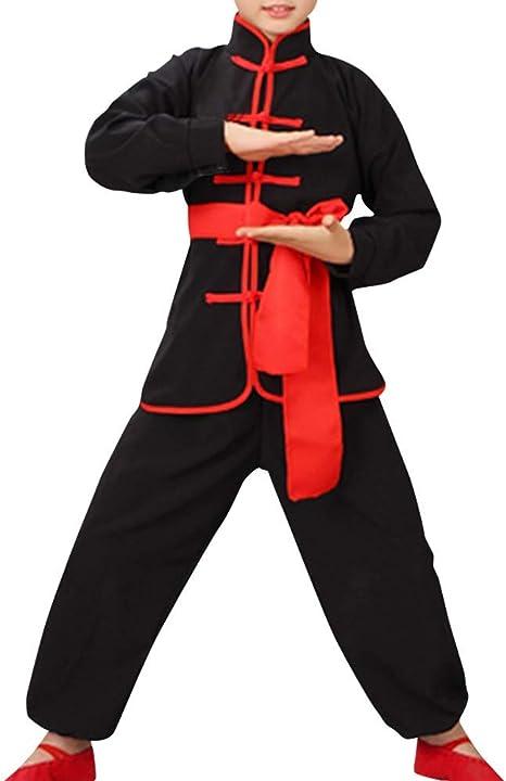 Qduoduo Niños Niñas Conjuntos de niños Wushu Shaolin Taiji ...