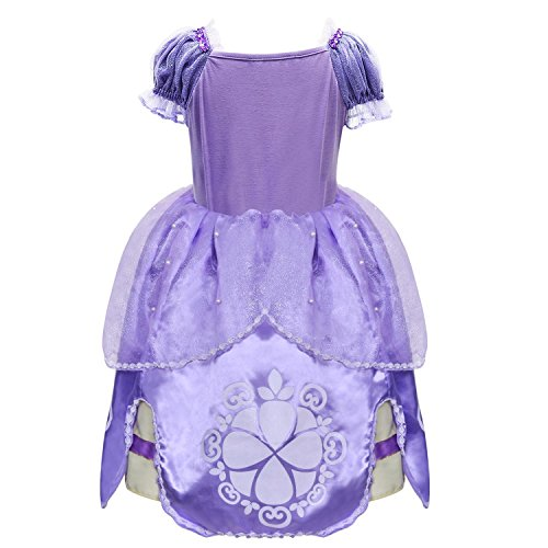 LOEL Girl Dress Kids Ruffles Lace Party Custome Dress