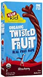 Clif Kid Bar Organic Strawberry, Twisted Fruit, 0.7-ounce Pieces, 6 pieces per Box (Case of 6 Boxes)