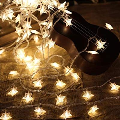 6m40led Warm Light Star String Lights Led Fairy Lights