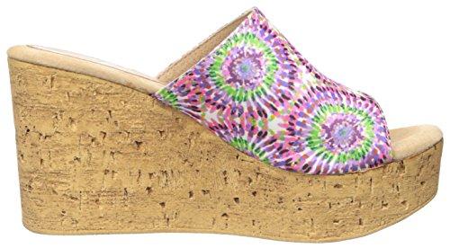 Sandalo Con Zeppa A Stella Sbicca Viola / Multi