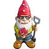 Cheap Twig & Flower The Beautiful Gift of Flowers Gnome – 9.5 Inches Tall – Hand Painted and Adorably Designed by
