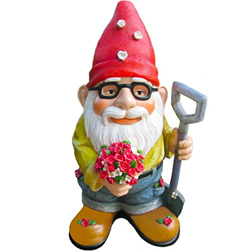 - Twig & Flower The Beautiful Gift of Flowers Gnome - 9.5 Inches Tall - Hand Painted and Adorably Designed by