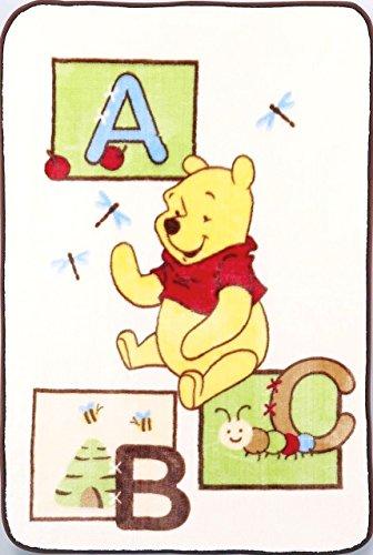 Winnie The Pooh Throw Baby Blanket - Luxury Plush Ivory