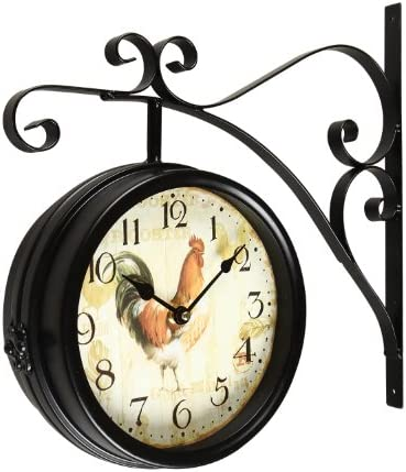 Joveco Wall Clock Decor Hanging Ornaments Rooster