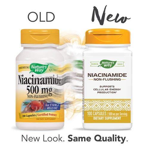 Nature's Way Niacinamide 500mg - 100 Capsules