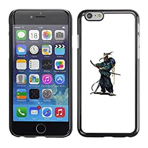 Caucho caso de Shell duro de la cubierta de accesorios de protección BY RAYDREAMMM - Apple Iphone 6 Plus 5.5 - Smurai japonés Katana Guerrero