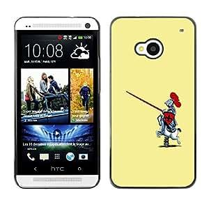 Cubierta de la caja de protección la piel dura para el HTC ONE M7 2013 - Funny Toy Horse Knight