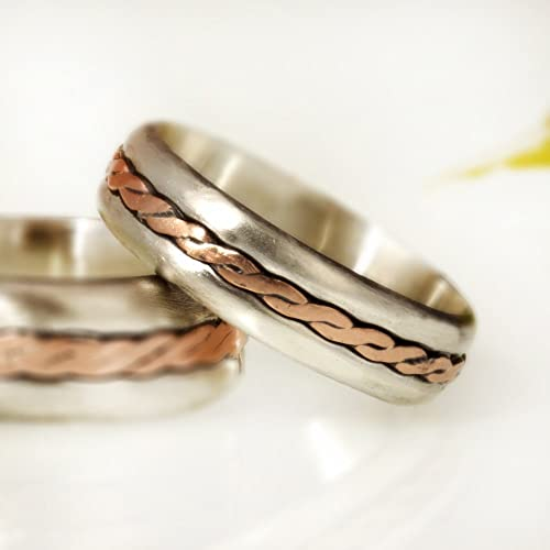 Amazon Com Wedding Ring Set Of 2 His And Hers Matching Wedding