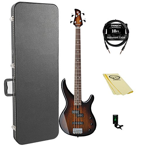 Yamaha TRBX174EW TBS 4-String Bass Guitar Pack for sale  Delivered anywhere in USA