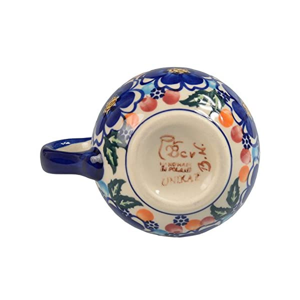 BCV Classic Boleslawiec, Polish Pottery Hand Painted Ceramic Mug, Barrel (300, U-097)