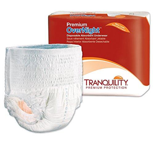 (Premium Overnight Disposable Underwear Size Medium: 34