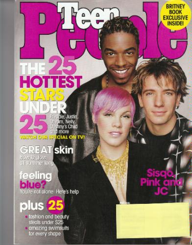 Download Teen People May 2001 The 25 Hottest Stars Under 25 Sisqo, Pink, JC Chasez (Single Back Issue) PDF