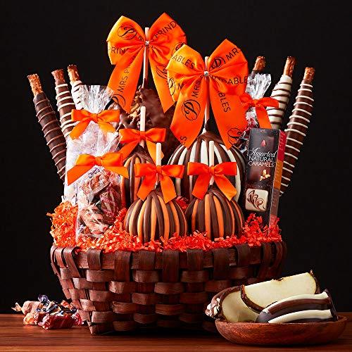 Mrs Prindables Premium Halloween Caramel Apple Gift Basket