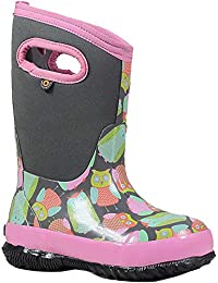 Bogs Girls' Classic Owl Waterproof Winter Boot Gry MLTI 12 M US