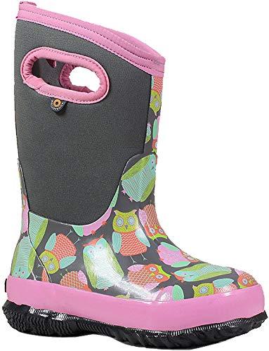 - Bogs Kids Classic Owl Snow Boot, Gray Multi, Size 13 M US Little Kid