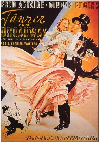 Barkleys Of Broadway The Poster Movie German 11X17 Fred Astaire Ginger Rogers Gale Robbins