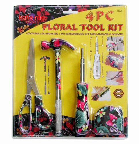 (KR Tools 95025 Pro Series 4-Piece Floral Tool Kit (Colors May Vary))
