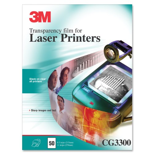3M Products - 3M - Black & White Laser Printer Transparency Film, Clear, Letter, 50/Box - Sold As 1 Box - Create quality overhead transparencies using your laser ()
