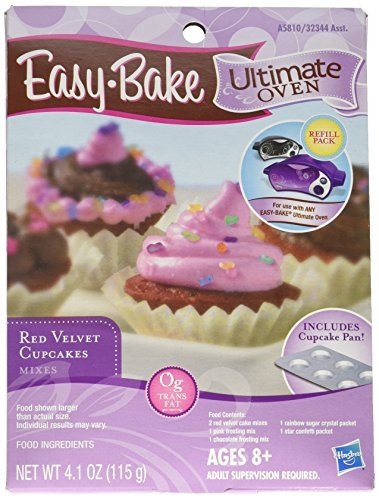 Easy Bake Ultimate Oven Red Velvet Cupcakes Refill Pack Playset by Hasbro