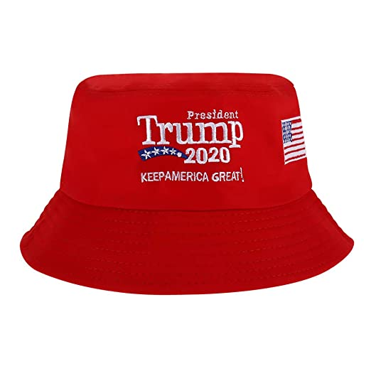 fbfef822558c8 HEQU 2020 Donald Trump Keep America Great Again Bucket Hat Red One Size