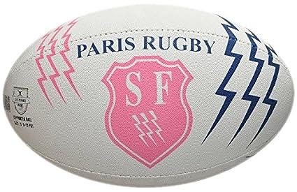 De balón de Rugby Stade Français Paris – oficial Gilbert – Talla 5 ...