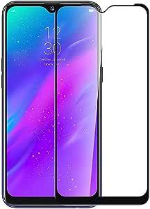 شاشة حماية زجاجية كاملة 6D شطف ليزر لهاتف ريلمي 3، ريلمي 3 برو ، لصق كامل بتقنية ال 9H الغير قابلة للكسر او الخدش - اسود