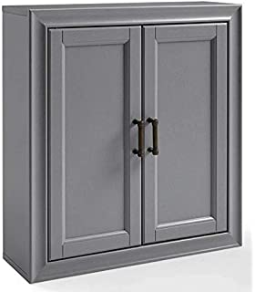 Wall Cabinet In Vintage Gray Finish