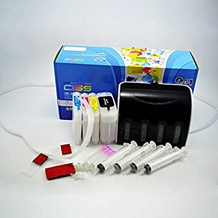 ecocolor Super Lujo Sistema de tinta continua CISS CEI para DesignJet HP 82 X L cartucho de tinta compatible para HP 510 hp565 4911: Amazon.es: Oficina y papelería