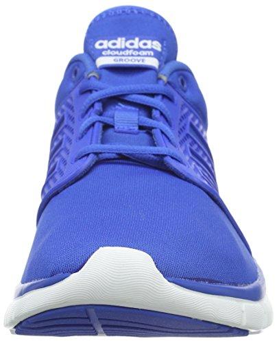 Adidas bianco Cloudfoam Blau ftwr da blu Scarpe uomo blu Groove Blue r6Hgr