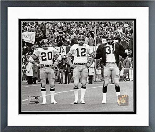 Photo Steelers Framed Pittsburgh (Franco Harris, Terry Bradshaw, Rocky Bleier Pittsburgh Steelers Action Photo (Size: 12.5