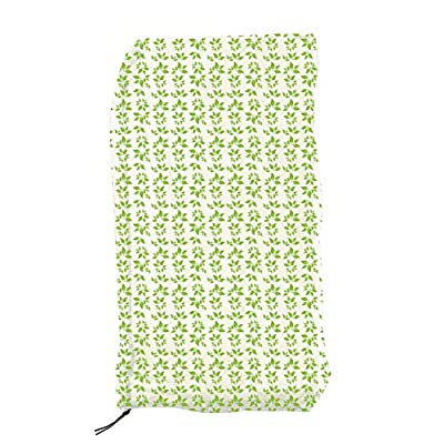 Ecover Dustproof Pressure Washer Cover, 2.3 x 2.3 x 3.8ft Leaves Printed