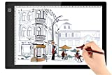 A4 Size Ultra-Slim Portable LED Light Box Tracer Light LED Artcraft Tracing Light Pad Light Box w Dimmable Brightness for Artists Drawing Sketching Animation Designing Stencilling X-ray Viewing