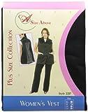 Cheap A Size Above Plus Size Vented Mesh Back Salon Stylist Vest, 1X