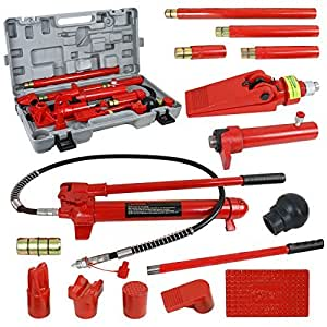 Super Deal Red Porta Power Hydraulic Jack Body 10 Ton Frame Repair Kit Auto Shop Tool (#4)